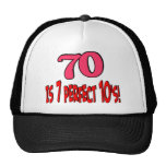 70 is 7 perfect 10's  (PINK) Hat