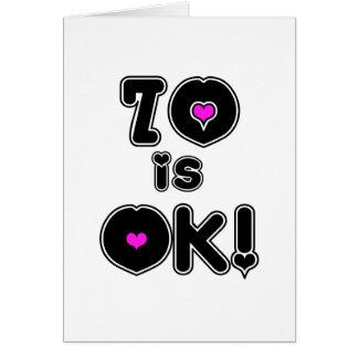 70 is OK Birthday Card