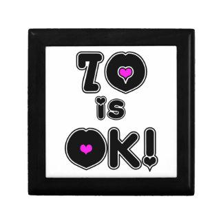 70 is OK Birthday Jewelry Boxes