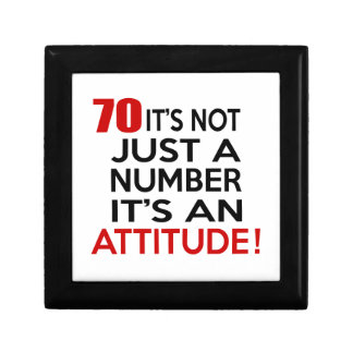 70 it's not just a number it's an attitude small square gift box