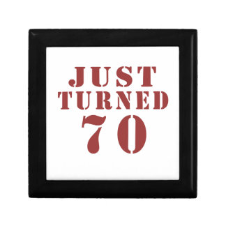 70 Just Turned Small Square Gift Box