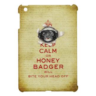 [70] Keep Calm or Honey Badger… Case For The iPad Mini
