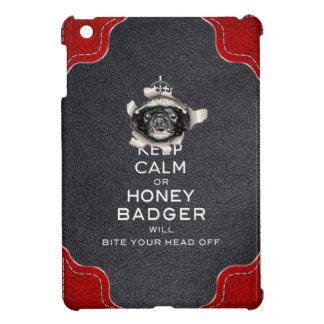[70] Keep Calm or Honey Badger… Cover For The iPad Mini