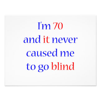 70 Never gone blind Personalized Invites