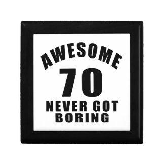 70 never got boring small square gift box