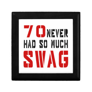 70 Never Had So Much Swag Small Square Gift Box