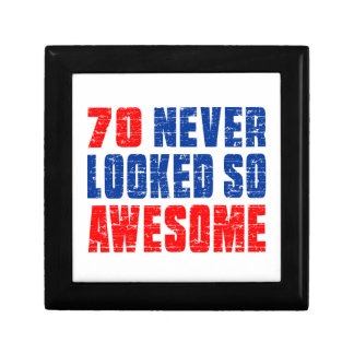 70 Never Looked So Awesome Small Square Gift Box