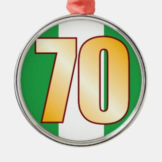 70 NIGERIA Gold Silver-Colored Round Decoration