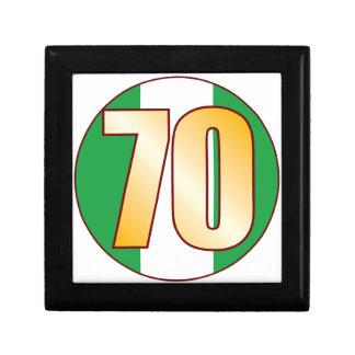 70 NIGERIA Gold Small Square Gift Box