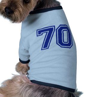 70 - number - seventy dog tee shirt