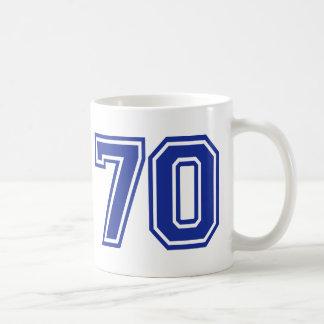 70 - number - seventy mug