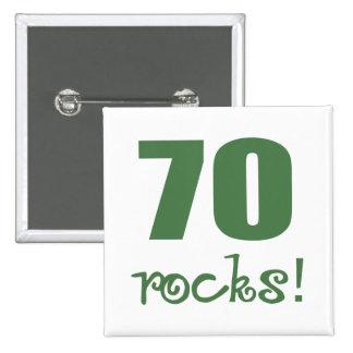70 Rocks! 15 Cm Square Badge