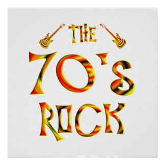 70 s Rock Poster