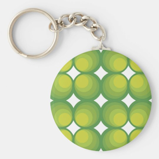 70 ' s years green circle rows… basic round button key ring