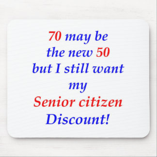 70 Senior Citizen Mouse Mat