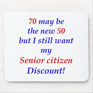 70 Senior Citizen Mouse Pad