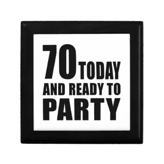 70 TODAY AND READY TO PARTY SMALL SQUARE GIFT BOX
