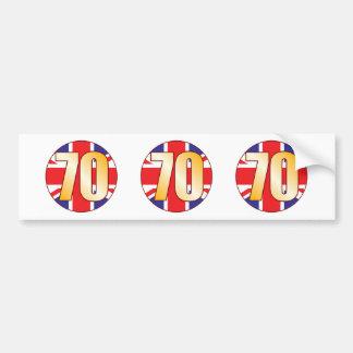 70 UK Gold Bumper Sticker
