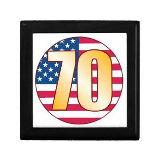 70 USA Gold Small Square Gift Box