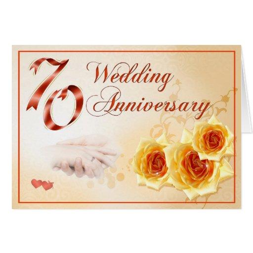 70 Wedding Anniversary Card