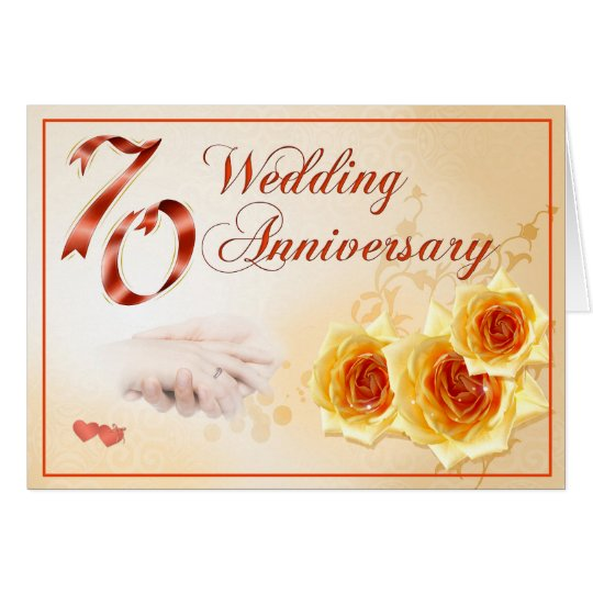 70 Wedding Anniversary Card