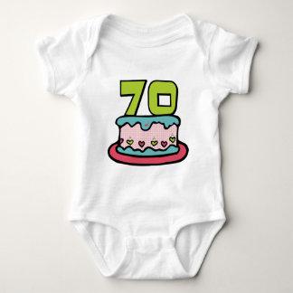 70 Year Old Birthday Cake Baby Bodysuit