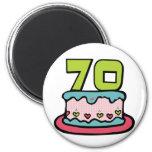 70 Year Old Birthday Cake Refrigerator Magnets