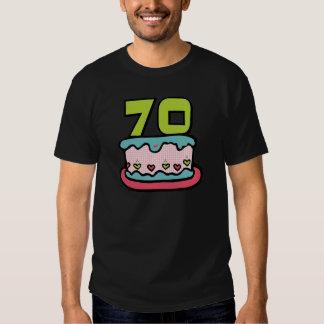 70 Year Old Birthday Cake Shirt