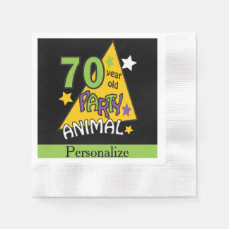 70 Year Old Party Animal | 70th Birthday Paper Napkin
