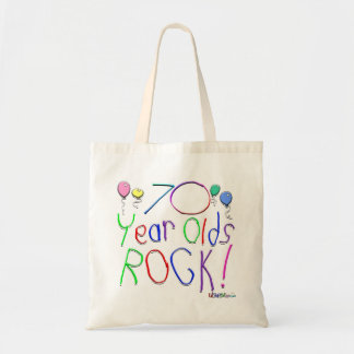 70 Year Olds Rock Canvas Bag