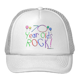 70 Year Olds Rock ! Mesh Hat