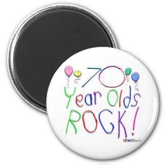 70 Year Olds Rock ! Fridge Magnet