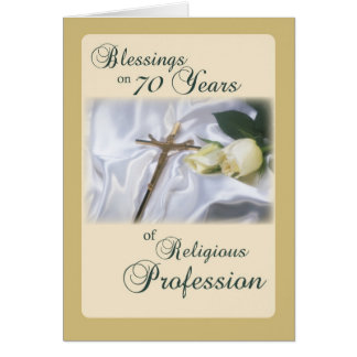70 Years of Religious Profession for Nun Anniversa Greeting Card