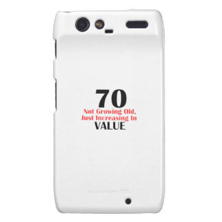 70 years old birthday designs droid RAZR cover