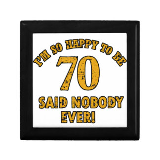 70 years Old birthday designs Gift Boxes