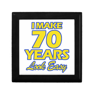 70 YEARS OLD BIRTHDAY DESIGNS SMALL SQUARE GIFT BOX