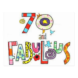 70 Years Old & Fabulous Birthday Post Cards