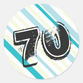 70 yr Bday - 70th Birthday Party Round Sticker