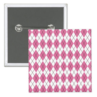 70er Muster Pinky 15 Cm Square Badge