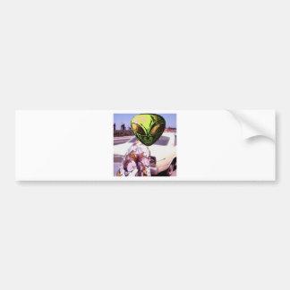 70s alien gal bumper sticker