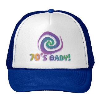 70's baby GROOVY! with swirl Cap