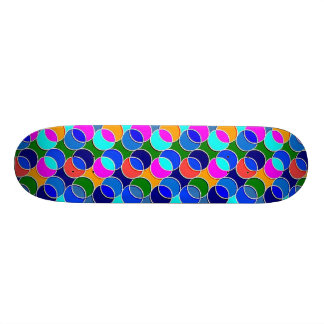 70s Circles blue colorful Skate Boards