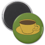 70's Coffee Cup refrigerator magnet