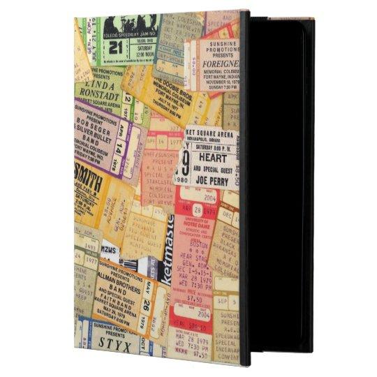 70s Concert Ticket Stubs iPad Air Cover