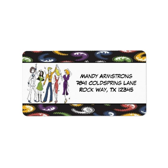 70s Disco Return Address Labels