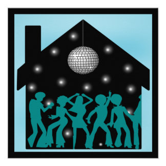 70s Disco Theme House Party Announcements