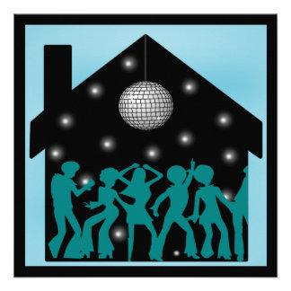 70s Disco Theme House Party Announcements