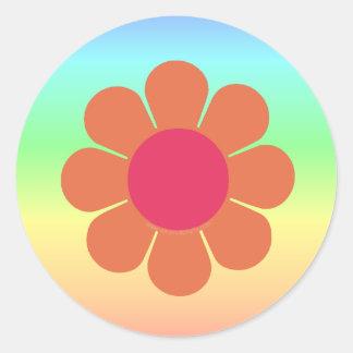 70's Flower Power Classic Round Sticker