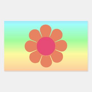 70's Flower Power Rectangular Sticker