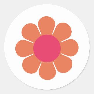 70's Flower Power Round Sticker